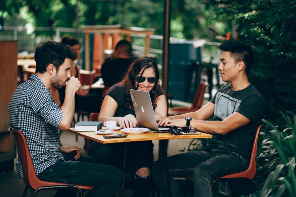 UX designers discussing
